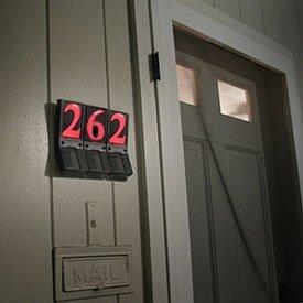 EZLIGHT LG001 Ezview Solar Powered Address Numbers