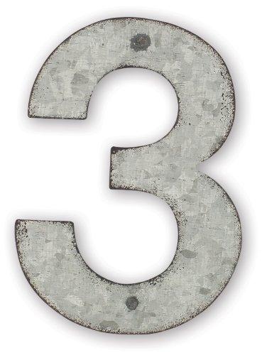Sunset Vista Design Studios Magnetic Sign 4-inch Metal Address Tile Number 3