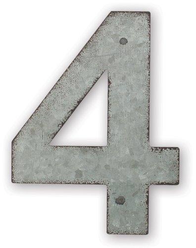 Sunset Vista Design Studios Magnetic Sign 4-inch Metal Address Tile Number 4