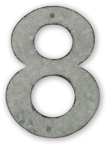 Sunset Vista Design Studios Magnetic Sign 4-inch Metal Address Tile Number 8
