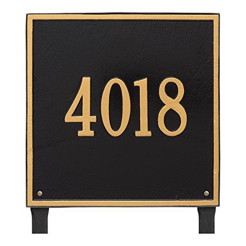 Custom 15 Square Estate LAWN Address Plaque 1 Line