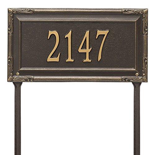 Whitehall Custom Grande Garden Gate Lawn Address Plaque 18W x 10H 1 Line