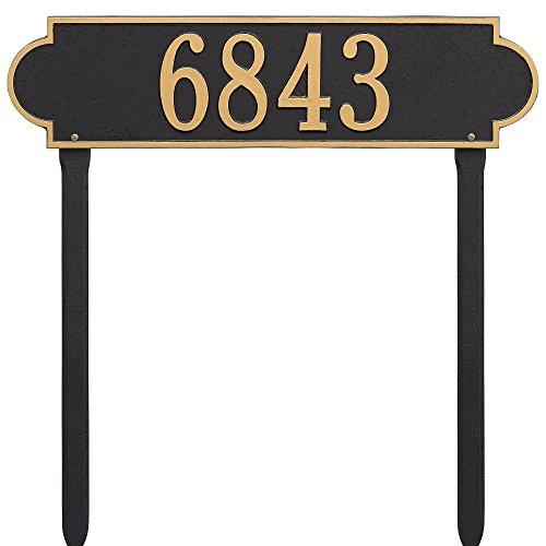 Whitehall Custom Richmond Estate Lawn Address Plaque 25W x 6H 1 Line