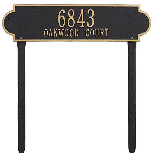 Whitehall Custom Richmond Estate Lawn Address Plaque 25W x 6H 2 Lines