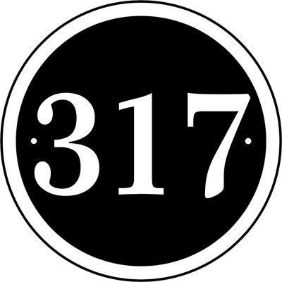 Comfort House Address Sign CRD08 black with white characters