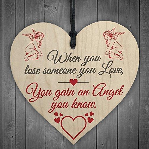 Cheyan Lose Someone Angel Memorial Bereavement Grave Hanging Plaque Sign