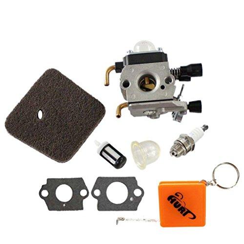 HURI Carburetor with Air Filter Spark Plug Fuel Filter for Stihl HS45 Hedge Trimmer FC55 FS310 Zama C1Q-S169 42281200608