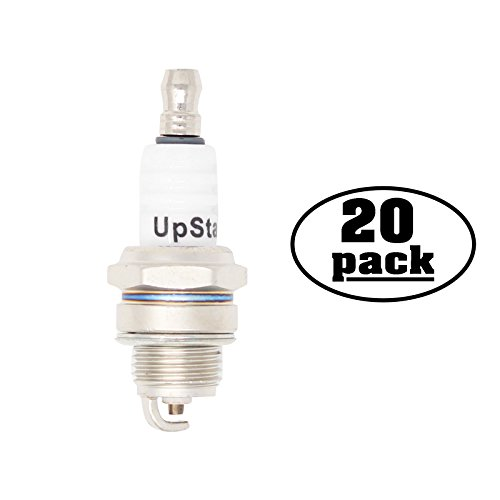 UpStart Components 20-Pack Replacement Spark Plug for Lawn Garden Hedge Trimmer CHT220 CHT300 CHT2200 CHT2250 CHT2300 CHT2300L CHT2301 - Compatible with Champion RCJ7Y NGK BPMR6F Spark Plugs