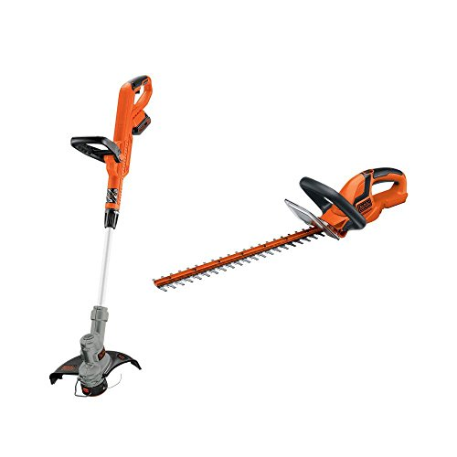 Blackdecker Lht2220 22-inch Hedge Trimmer Lst300 12-inch String Trimmer Edger 20-volt Max Lithium-ion Cordless